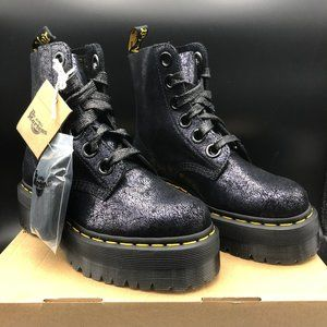 Dr. Martens Molly Black Iridescent Crackle Boots